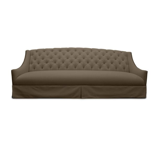 Burley Tufted Linen Sofa