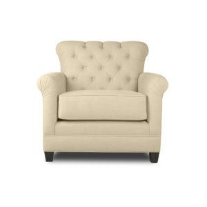 La Jolla Tufted Linen Chair