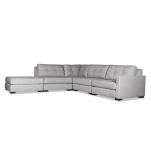 Mayfair Buttoned Modular Right Arm L-Shape Left Ottoman Sectional