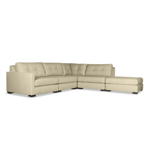 Mayfair Buttoned Modular Left Arm L-Shape Right Ottoman Sectional