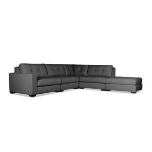Tribeca Buttoned Modular Left Arm L-Shape Right Ottoman Sectional