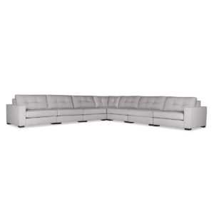 Tribeca Buttoned Modular Right Arm L-Shape King Sectional