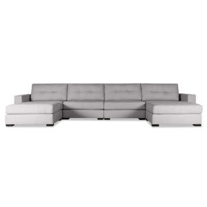 Tribeca Buttoned Modular U-Shape Double Chase Sectional