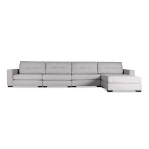 Tribeca Buttoned Modular Right Chaise Sectional